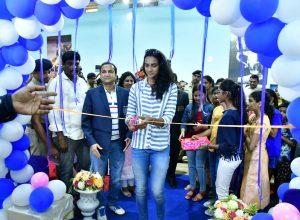 Ace shuttler PV Sindhu visits Vizag, inaugurates Railway Indoor Stadium