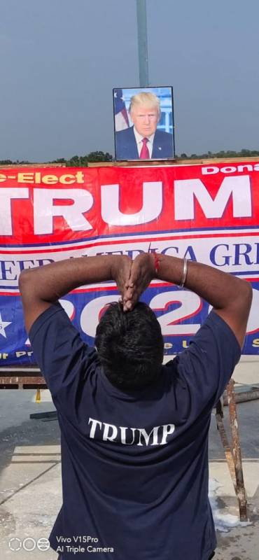 Trumps Devotee Bowing Down To Him