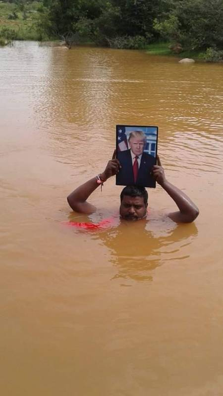 Trumps Devotee With His Picture