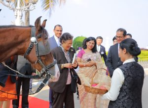 Her Royal Highness Princess of Thailand visits Taj Falaknuma Palace, Hyderabad