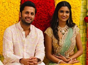 Telugu actor Nithiin gets engaged to Shalini in Hyderabad