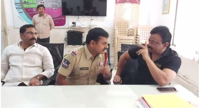 'Disha' movie: Ram Gopal Varma meets ACP Shamshabad