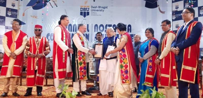 AP Governor Biswa Bhushan awarded honorary degree