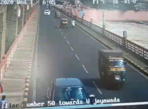 Woman jumps into Krishna river, incident caught on CCTV camera
