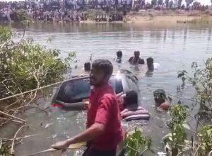 Seerinigudem sarpanch's husband, son found drowned in lake