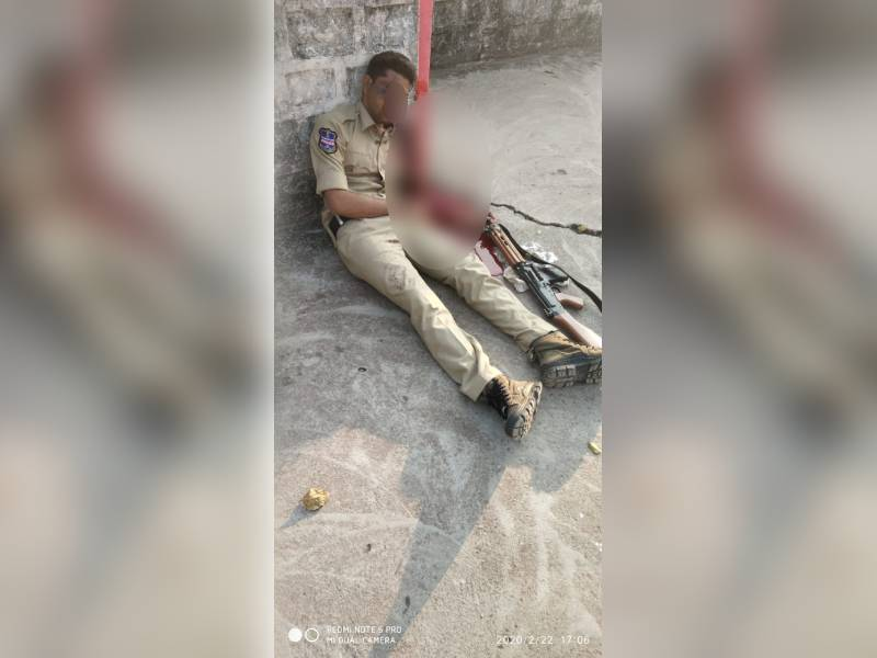 Constable injured after his gun goes off