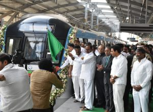 KCR flags off green Metro line connecting Jubilee bus stand to Mahatma Gandhi Bus station
