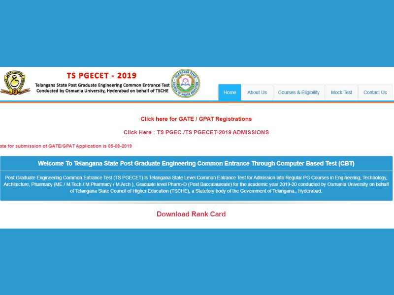 TSPGECET scheduled from 28 to 31 May, online applications to open on 12 March