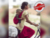 Fact Check: Woman cycling with baby tied to her back not from India