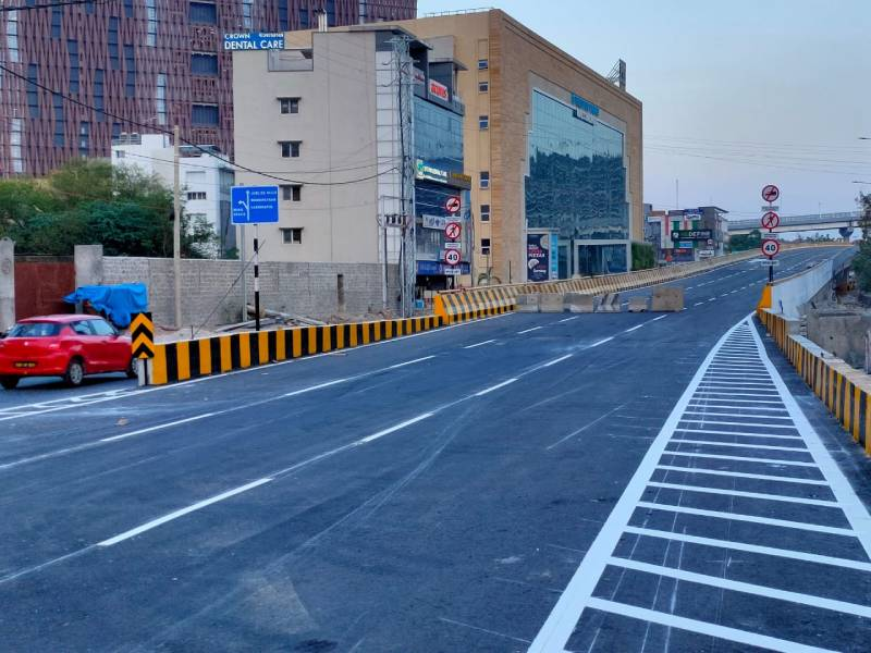 First level flyover at Bio-diversity junction opens for traffic today