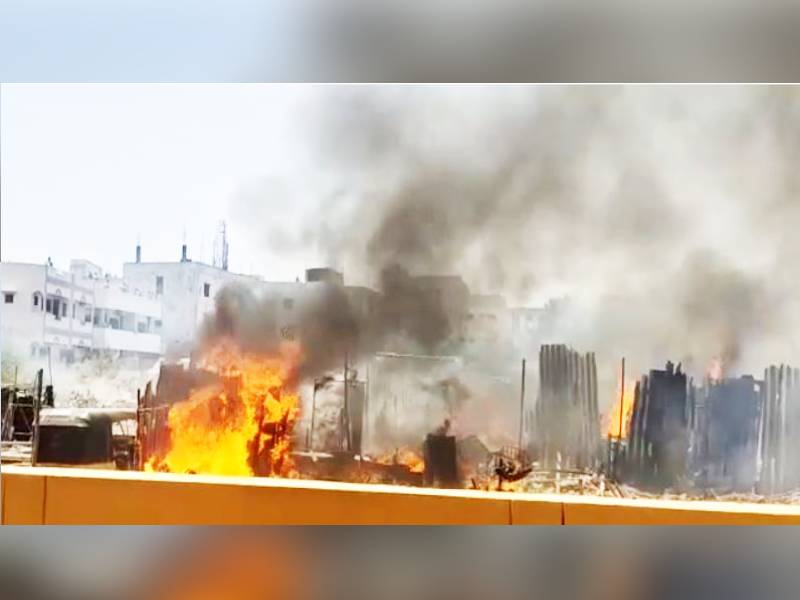 Three autos and 20 huts gutted in the blaze at Secunderabad