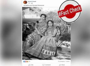Fact Check: Woman with Jayalalitha in viral picture is not Nirmala Sitharaman