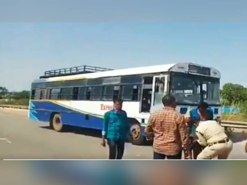 Parked RTC bus stolen in Anantapur, accused caught after chase