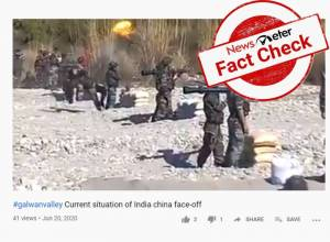 Fact Check: Video showing Indian soldiers fleeing after misfiring gun not from the recent Galwan Valley stand-off
