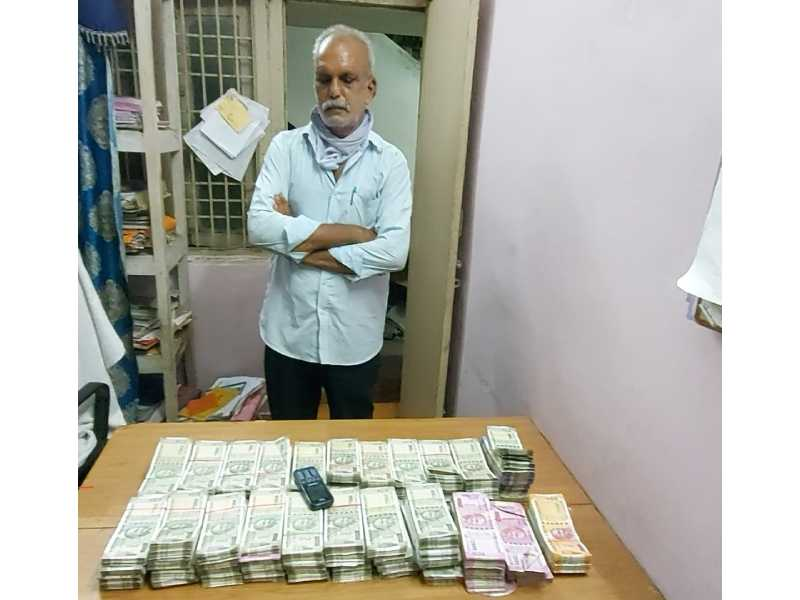 Suspected hawala operator arrested in Vizag, Rs. 50 lakh cash seized