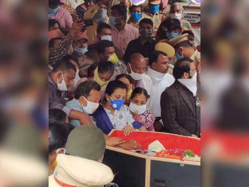 Pride and pain galore as Colonel Santosh Babu was laid to rest at Suryapet