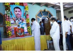 CM KCR visits family of Col Santosh Babu in Suryapet