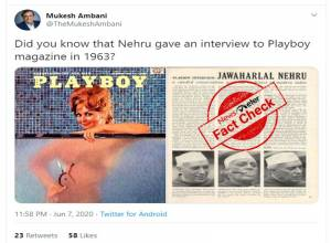 Fact Check: Nehru's interview published in Playboy magazine is partly true