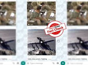 Fact Check: Viral videos do not show recent standoff between China, India
