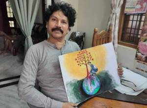 Art in time of COVID: Narahari Maheshwaram draws 119 paintings to hail frontline workers
