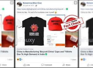 Fact Check: 'Boycott China' t-shirts, caps not made in China