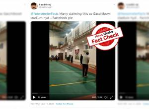 Fact Check: Viral videos of COVID patients playing cricket, dancing to 'Lungi dance' not from Gachibowli stadium