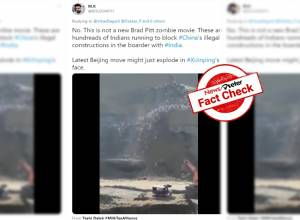 Fact Check: Video of Indians rushing down a hill claiming as an attempt to stop Chinese at India-China border is false