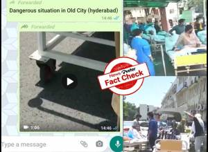 Fact Check: Viral video of patients lying outside the hospital is not in Hyderabad