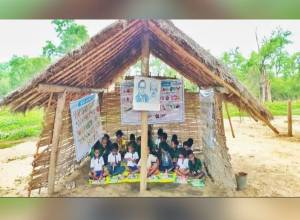 No road, no building: How a Telangana school teaches tribal kids under a hut in Mulugu