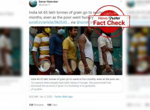 Fact Check: FCI says article on news websites regarding food grains going waste is misleading