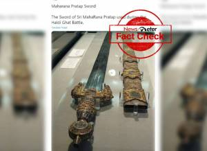 Fact Check: Sword in viral image does not belong to Maharana Pratap
