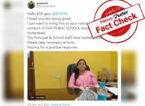 Fact Check: Did a Hyderabad school Principal misbehave with a parent when questioned about fee charged?
