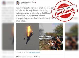 Fact Check: No, Indian Air Force jet was not shot down by Nepali forces