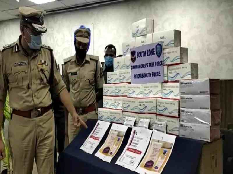 What happens to the anti-viral drugs seized by Telangana police