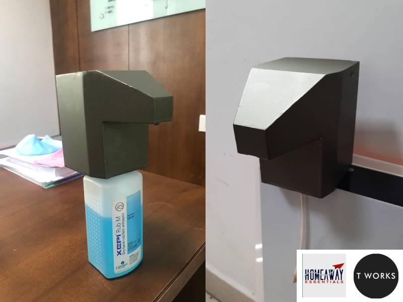 TS govt develops hands-free, portable, battery-operated sanitiser dispenser