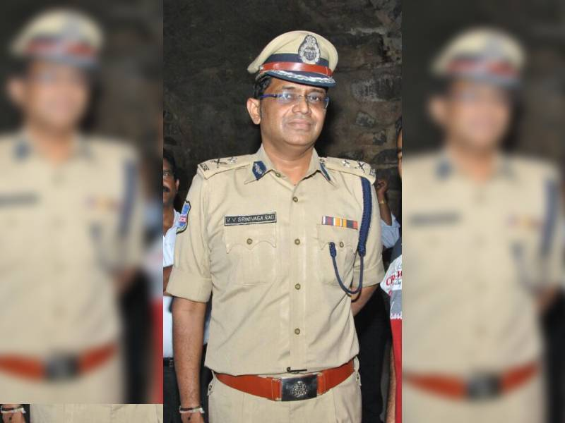 Director of TS police academy V.V Srinivasa Rao escapes miraculous