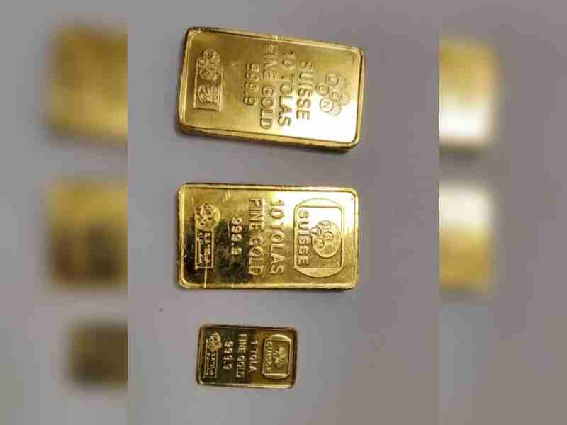 Gold smuggling bid foiled at RGI airport; 11 passengers detained, 3.11 kg bars seized