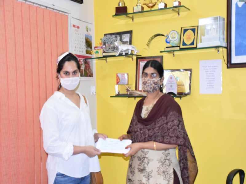 Upasana Kamenini adopts Elephant Rani on her birthday