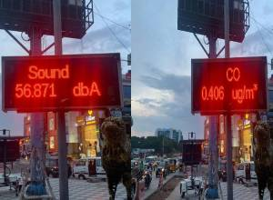 Display panels to alert motorists on noise pollution, CO-level at Cyber Towers junction