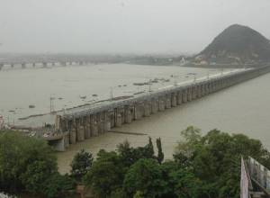 7,975 cusecs of water released from Prakasam barrage