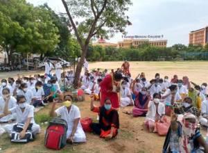 Gandhi Hospital nurses' strike enters 4th day, Niloufer Hospital staff join stir