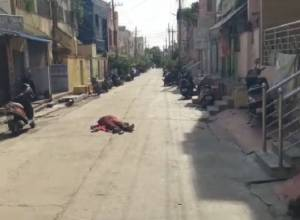COVID-19 patient's body lies on road for hours in Guntur