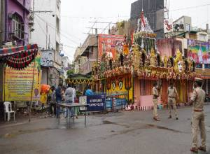 No cheering crowds, no glittering lights: COVID scare dampens Bonalu celebrations