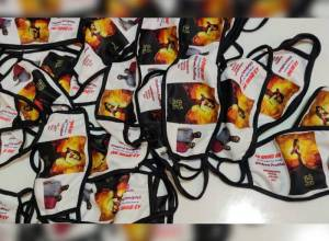 Prabhas fans make masks with Radhe Shyam poster, distribute to poor