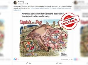 Fact check: Viral cartoon 'Lipstick on a pig' depicting Modi, Indian media is false