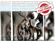 Fact Check: Does Srirangam temple has a statue of Chinese man stabbing a warrior?