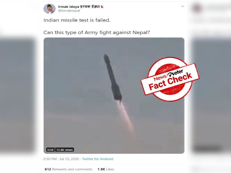 Fact Check: Video showing Indias failed missile test is from Russia