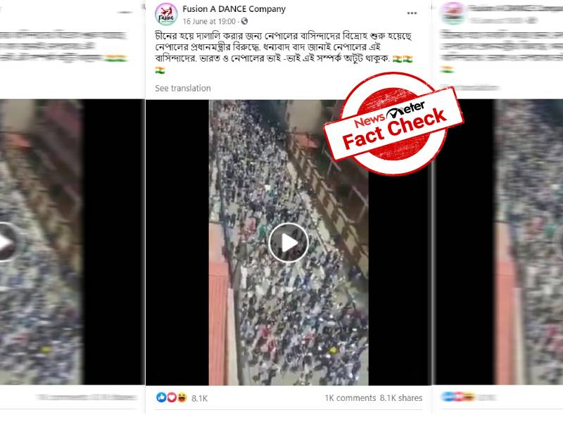 Fact check: Nepali students protested but not in support of Indians