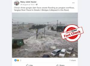 Fact Check: Video claiming to be of China floods is that of Japan's Tsunami
