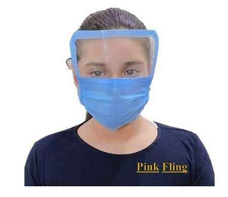 Full Face Masks With Plastic Shield